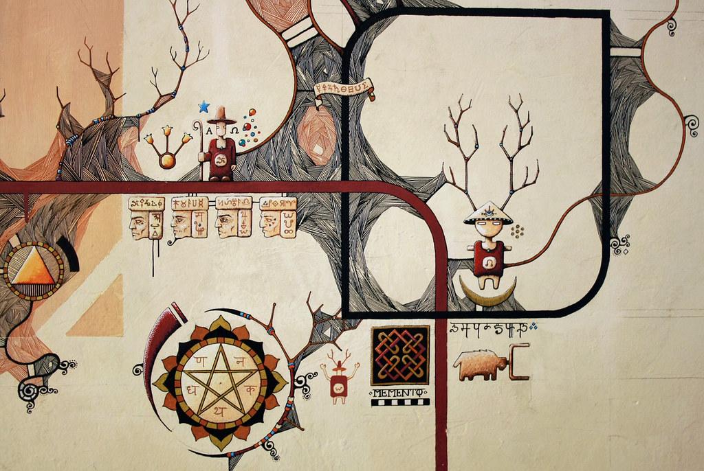 Le blog de ga l chapo dessin mural en cours de r alisation for Dessin mural