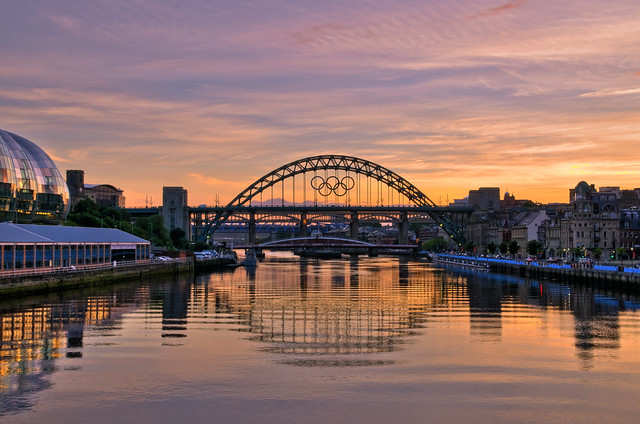Sunset on Tyne.