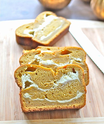 Bella Baker: Pumpkin Cream Cheese Swirl Bread
