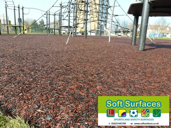 Rhino mulch bonded rubber playground safety surfacing - Playground surfaces for home ...