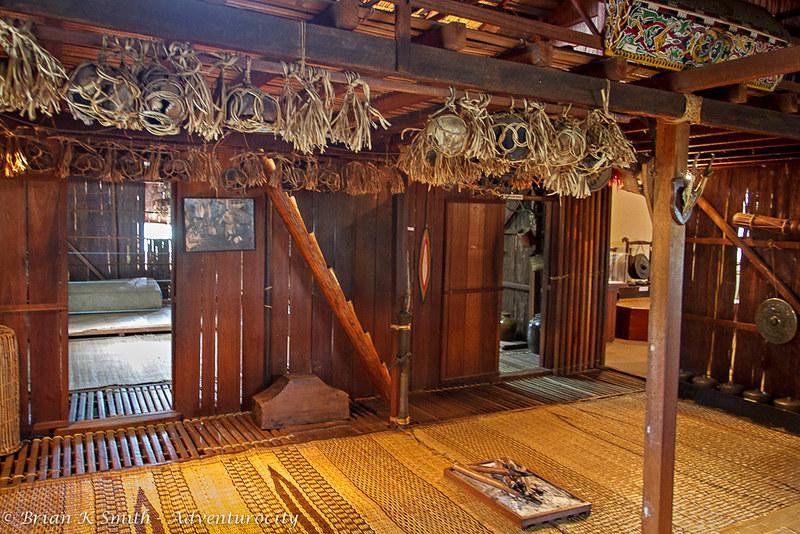 Iban Longhouse, Sarawak State Museum Ethnology Hall