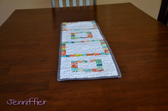 "Modern ""String"" Log Cabin Table Runner"