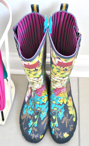 Floral wellies