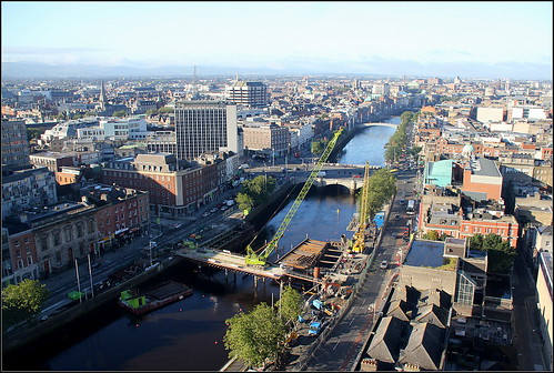 View from top of Liberty Hall, Dublin