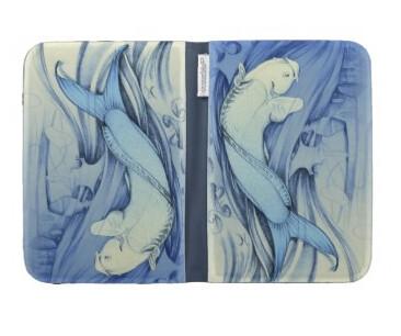 Pez Azul japonés funda Kindle