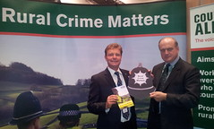 8/10/12 Discussing rural crime issues with Sir Barney White-Spunner of Countryside Alliance
