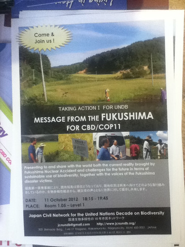 Message from Fukushima for CBD/CoP11