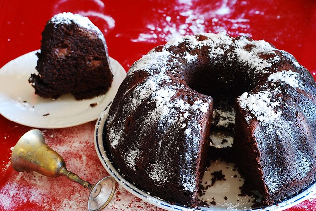 chocolate bundt cake recipe with liquor soaked cherries