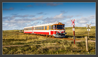 a danish DMU in the morning
