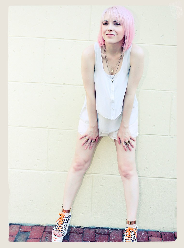 pink hair, don't care ankle cuffs pastel