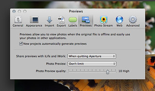 Aperture Preview Preferences