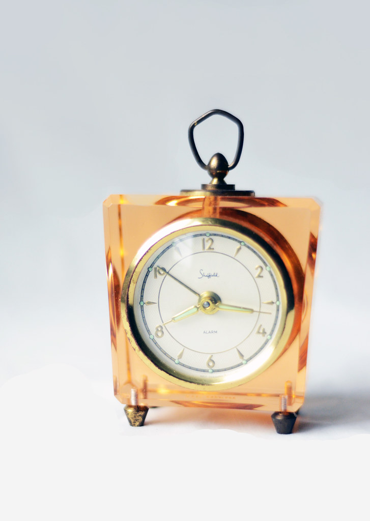 Vintage Pink Lucite Clock