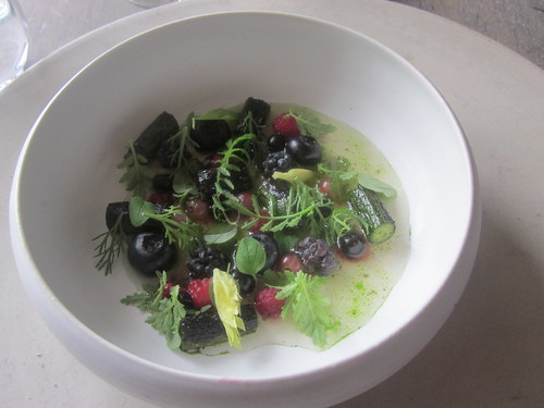 Noma - Copenhagen - August 2012 - Wild Berries and Cucumber Salad