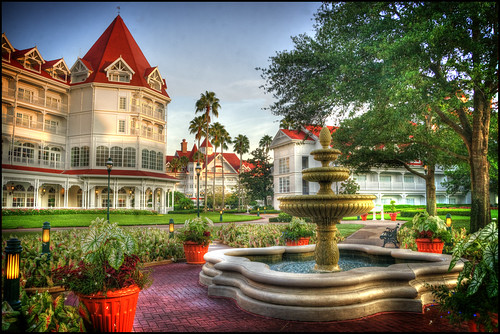 fountain sunrise florida victorian hdr grandfloridian lakebuenavista waltdisneyworldresort