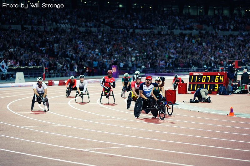 David Weir claiming gold at the London 2012 Paralympics