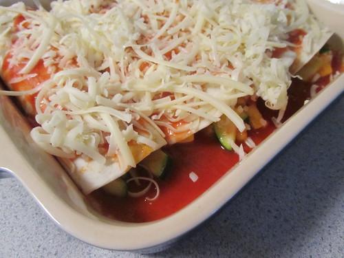 Summer Squash Enchiladas