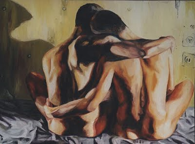 two_men_hugging_gay_art_paintings_male_nude_naked