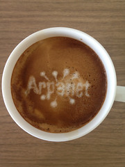 Today's latte, ARPANET.