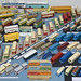A large display of Dinky Toys Buses and Trams by buzzer999