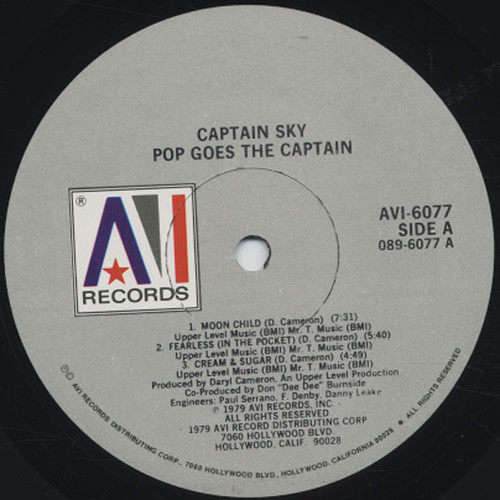 Captain Sky - Pop Goes The Captain lbl