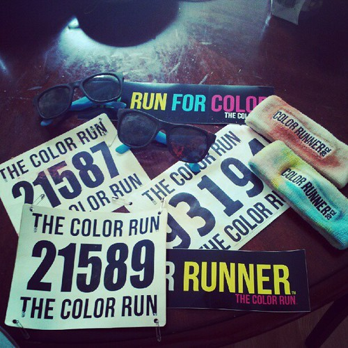 Not that sore today... Lets be real it was an awesome experience!  #thecolorrun #slmqg @thecolorrun