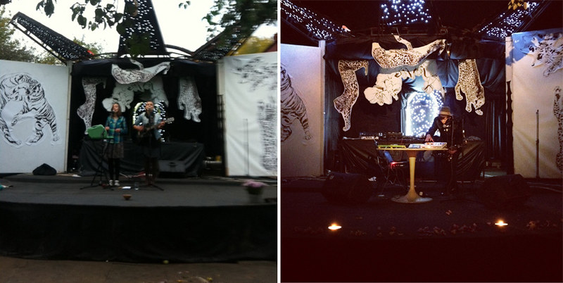 stage at night/day