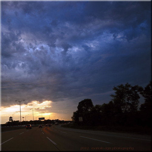 trip sunset vacation sky sun clouds square evening highway raod thegalaxy
