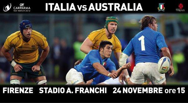 biglietti Italia-Australia test match 2012, prevendite Italia-Australia Firenze