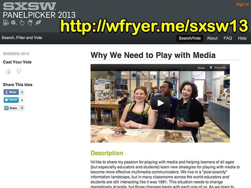 SXSW PanelPicker - Why We Need to Play with Media