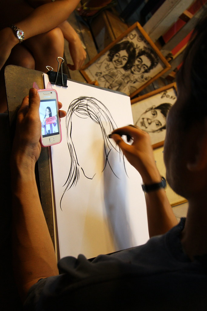 Amphawa Floating Market: Portrait Drawing