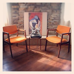 MID CENTURY MODERN Chairs Burnt Orange Danish Modern Style...</p></a>                        							<div class=
