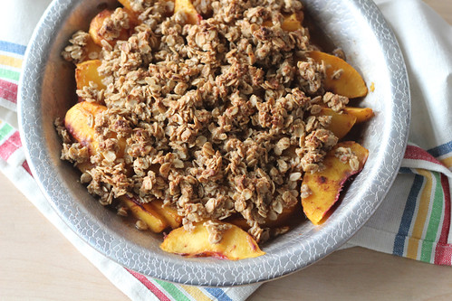 ... lingering sweetness of summer with this simple recipe for peach crisp