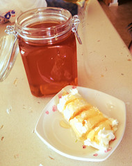Kaymak and honey