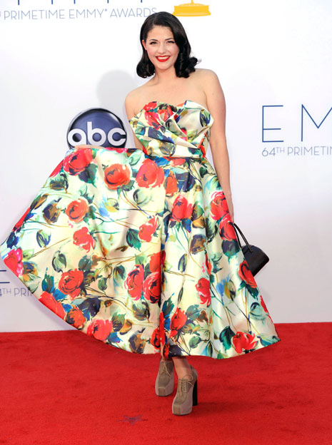 printed gown emmys