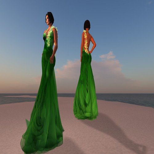Paris METRO Couture_ Sorbet Gown - Emerald by Dyana Serenity