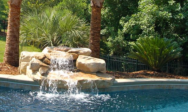Rock waterfall gunite pool charlotte nc flickr - Public swimming pools in charlotte nc ...