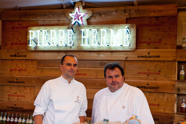 Pierre Hermé and his sous pastry chef