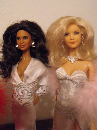 Eva Longoria and Nicollette Sheridan Barbie Dolls.