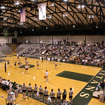 tour-0019 -- The arena of the Shirk Center for Athletics and Recreation seats 2,500 for athletic events.