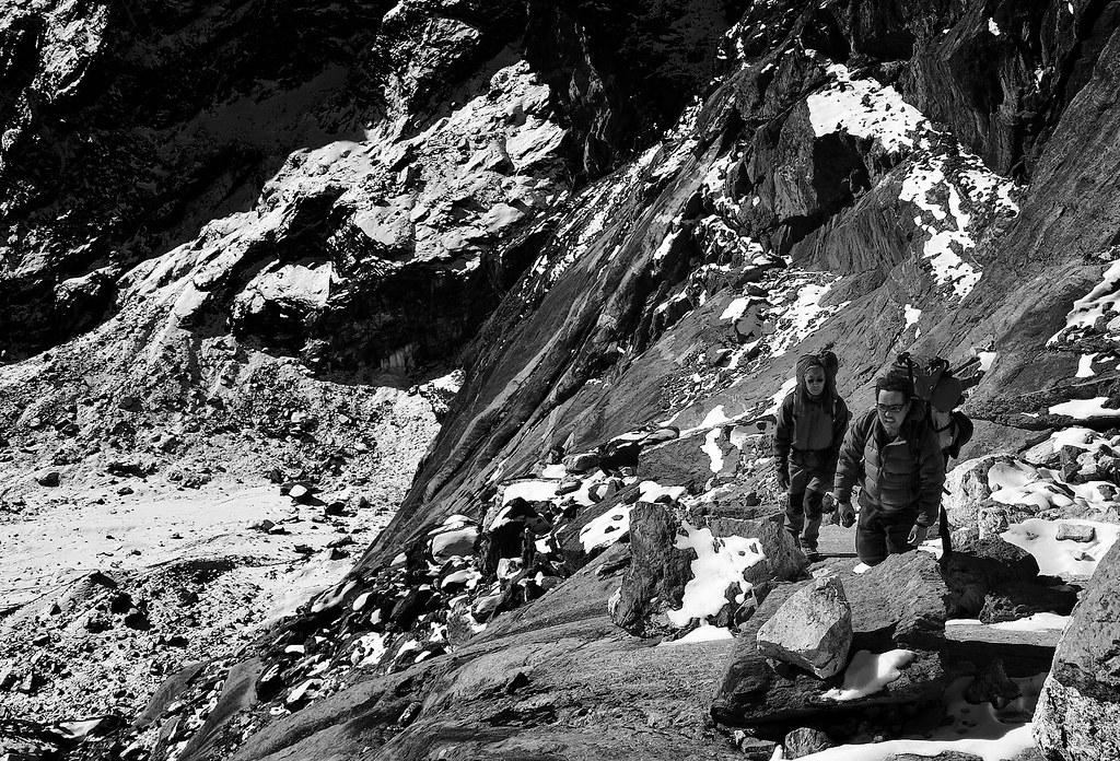 Climbing Cho La, Nepal