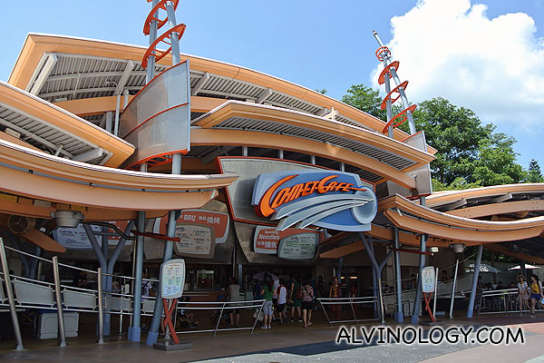 Comet Cafe - one of the many restaurants in Hong Kong Disneyland