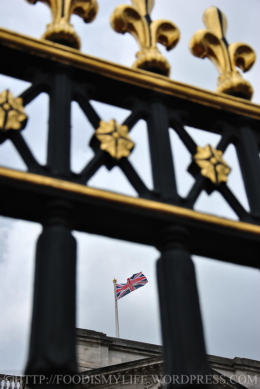 British flag at Buckingham Palace, London, England
