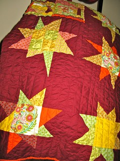 Hand Turkey/Condiment/Wonky star quilt