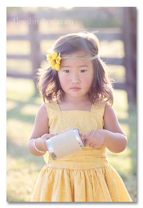BLOG serious face yellow dress