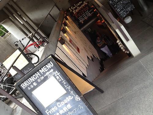 お店は地下にあります。@Fritto (フリット)
