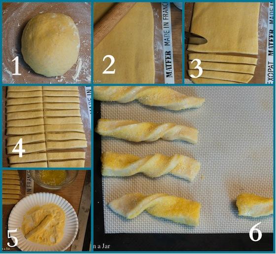 Cloning Pillsbury's Cornbread Twists--how to shape cornbread twists