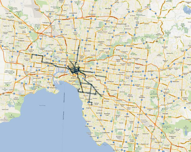 Frequent routes(15mins)-evening-2012