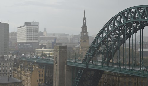 Newcastle in the rain