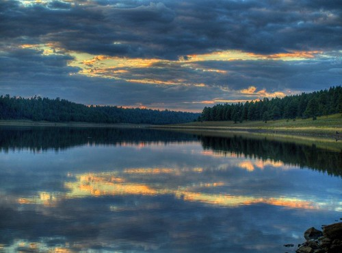 sunset lake flagstaff hdr