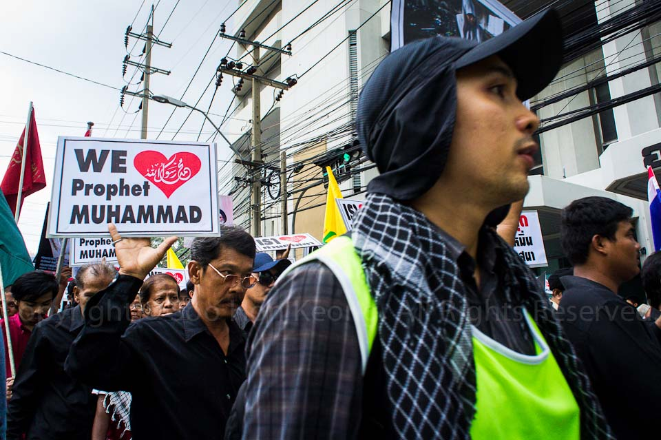 Demo / Protest on Innocence of Muslims Video @ USA Embassy, Bangkok, Thailand